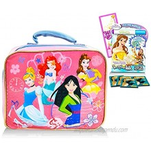 Disney Princess Lunch Box for Girls Kids Bundle Princess Lunch Bag with Princess Imagine Ink Coloring Book Stickers and More Disney Princess School Supplies