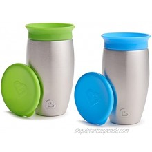 Munchkin 2 Pack Miracle 360 No Spill Sippy Cup 10 Ounce Green Blue