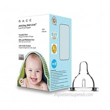 Made in USA aMACEing Zero Leak Nipple with Anti-Colic Vent and Variable Flow 2 Pcs