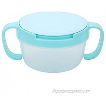 eecoo Snack Cup with Double Handle for Kids Snack Catcher Lid Snack Container for Toddler and Baby,Portable Biscuits Candy Box Blue