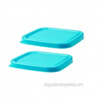 Innobaby EZ Grip Press-to-Seal Replacement Lids Blue 4 Ounce