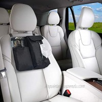 FH Group FH1136GRAY Car Seat Back Organizer with Tissue Holder Car Back Seat Organizer for Baby Wipes