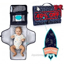 BabyOrbit Portable Diaper Changing Pad Large & Long Changing Station kit for Boy & Girl Baby Shower Gifts Baby Registry Search Newborn Essentials Must Have