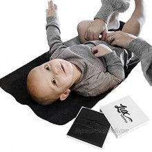 Lux Supply Co. Vegan Leather Baby Mat and Place Mat! 14x22 Multi Use Faux Leather Mat Baby Changing Pad Portable Toddler Mat Outdoor Waterproof Placemats Black Small