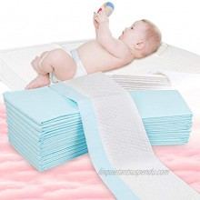 OBloved Changing Pad Cover,20 Pack Changing Table Pad,Waterproof Baby Changing Pad Leak-Proof Breathable Diaper Changing Pad Underpads,18 Inches X 13 Inches Blue