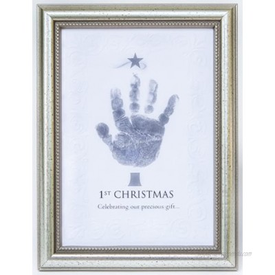 The Grandparent Gift Frame Wall Décor Baby's First Christmas Frame for Handprint