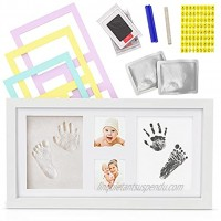 Baby Hand and Footprint Kit Newborn Keepsakes for Baby Boys and Girls Non-Toxic Ink and Clay Kit with White Photo Frame for Baby Shower Baby Registry and Nursery Decor.