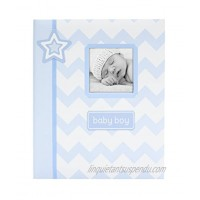 Lil Peach Chevron Baby Memory Book Blue A Perfect Baby Shower Gift