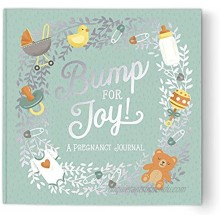 Guided Pregnancy Journal by Studio Oh! Bump for Joy 9 x 9 Beautifully Illustrated Hardcover Journal with Storage Pockets Creates a Keepsake of Maternity Memories