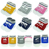 6pairs Baby Anti Slip Ankle Sock Toddler Non Skid Cotton No Show Cotton Animal Infant Stripes Sneakers Socks 12-18 month