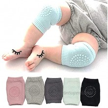 Baby Crawling Non-Slip Knees Baby Knee Pads Baby Protective Socks Baby Leg Warmers 5 Pairs
