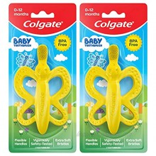 Colgate Baby Toothbrush and Teether BPA Free – 2 Count
